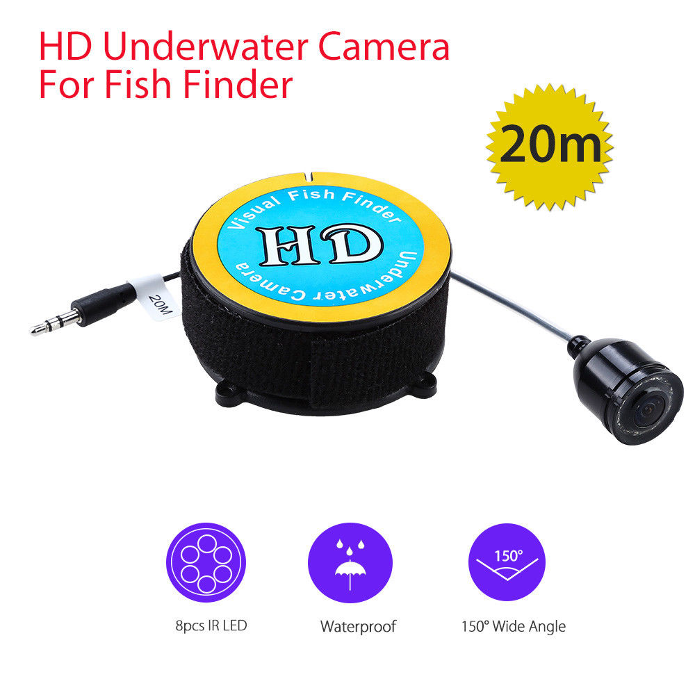EYOYO F05 1.2MM 20m 150degree Underwater Camera Fishing With 8pcs IR LED Waterproof Night Vision Accessory For Fish Finder hu ying fish finder video 30 meter line 140 degree high definition night vision lens multi scene fishing 4 3 lcd 8pcs ir led