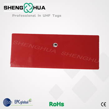 60pcs/box passive rfid sticker tag vehicle windshield Irremovable Ceramic UHF RFID tag 860-960MHz