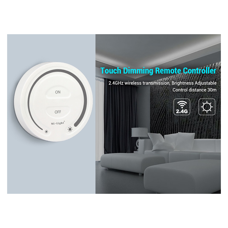 FUT087 Free Shipping 2.4G Wireless Touch Dimming Remote Controller Adjust Brightness LED Dimmer For Miboxer Products
