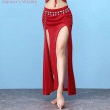 Nouveaux vêtements de danse du ventre filles impression jupe en mousseline de soie de danse avec des caleçons pour les femmes jupe courte de danse du ventre