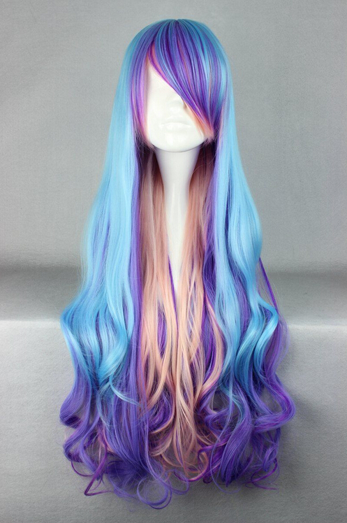 Parrucca perruque DYZ + + + 804 New Fashion Anime Hitman Reborn Bianchi Cosplay Parrucca Haar Perücke Rosa delle donne capelli peruca regina parrucche