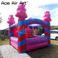 Top quality inflatable candy floss/stall station/kiosk bar,inflatable concession booth for Carnival party
