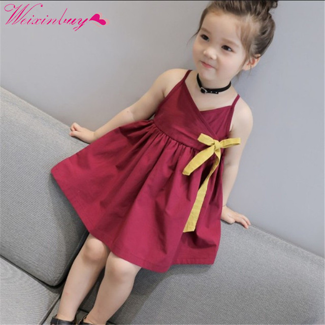 a0508f614 Girls Dress 2018 WEIXINBUY Brand Princess Dress Sleeveless Appliques ...