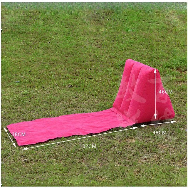 Outdoor Portable Inflatable Seat Back Cushion Wedge Shape Waterproof Ergonomic Lazy For Camping Hiking
