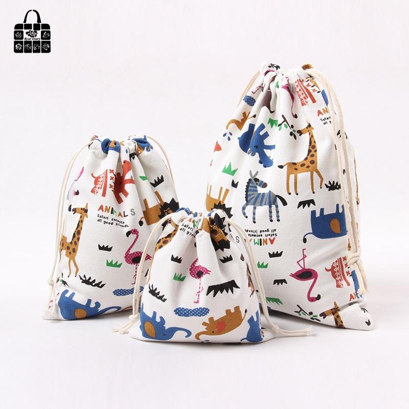 1 pcs Animal printed 100% cotton canvas fabric bag women Zero wallet child girl change purse, kids toy Mobile phone storage bags