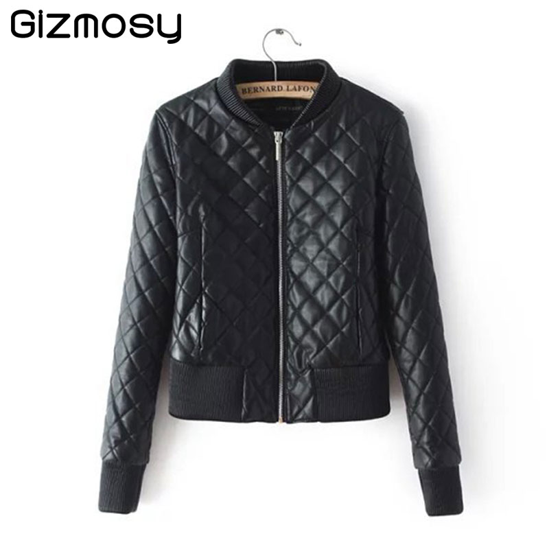 Leather Jacket Women Spring PU Leather Outerwear Casual Jacket And Coat Ladies Clothing Female Motorcycle Leather Jackets SY1370