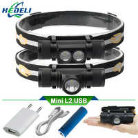 CREE XM L2 LED Headlight Mini Head light USB White Light Head Lamp Flashlight 18650 Battery Headlamp For Camping Fishing Hunting