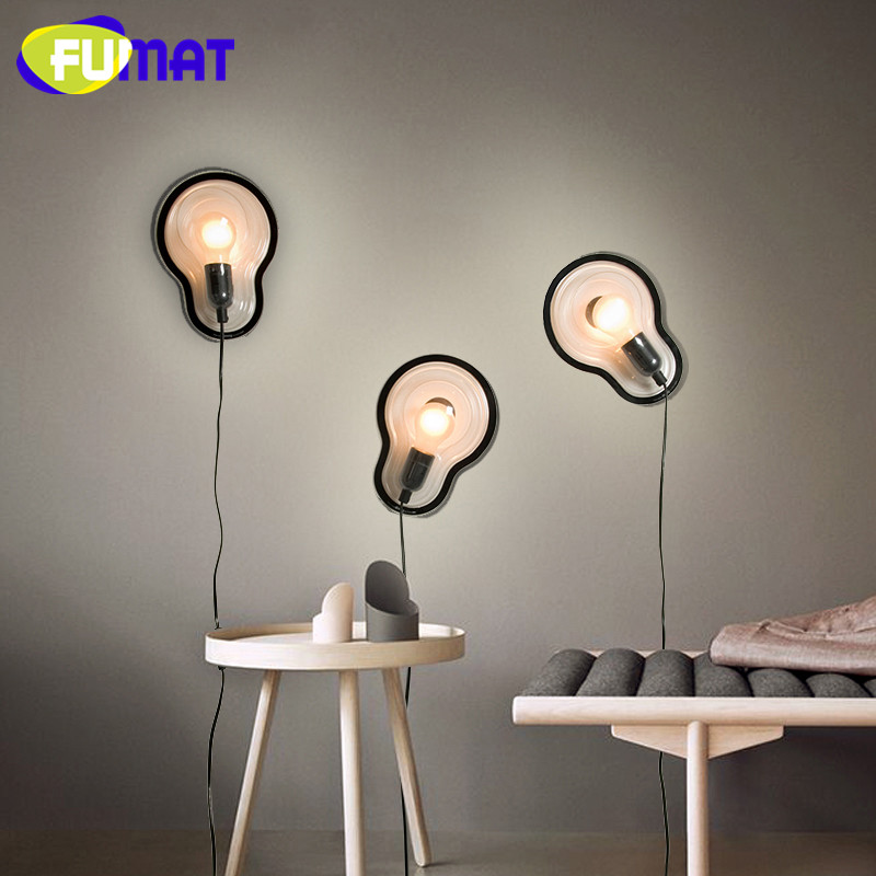 Bedroom Bedside Led Wall Lamp Minimalist Corridor Aisle Droog Sticky Lamp Nordic Study Deocration Art PC Wall Light E27 vemma acrylic minimalist modern led ceiling lamps kitchen bathroom bedroom balcony corridor lamp lighting study