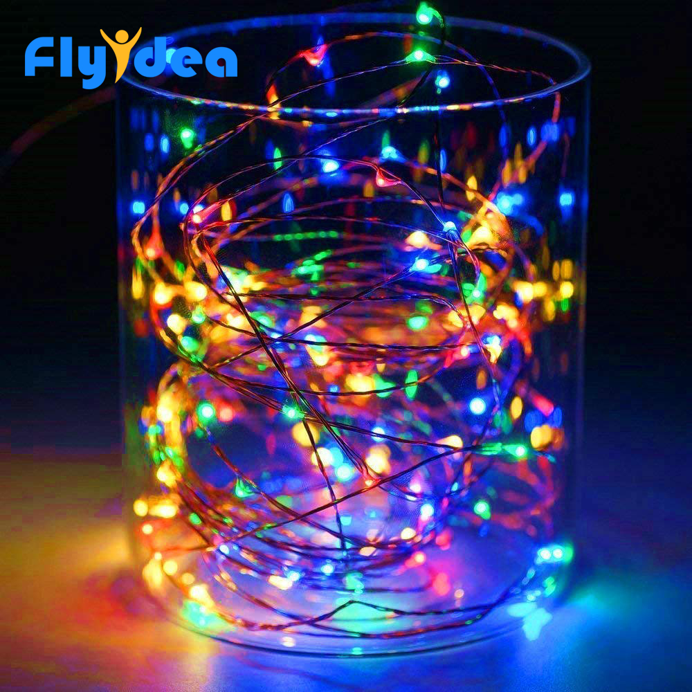 LED Button Copper Wire String Garland Festival Party Decoration LightsChristmas Lights Lights Colorful Fairy Mini String Lights