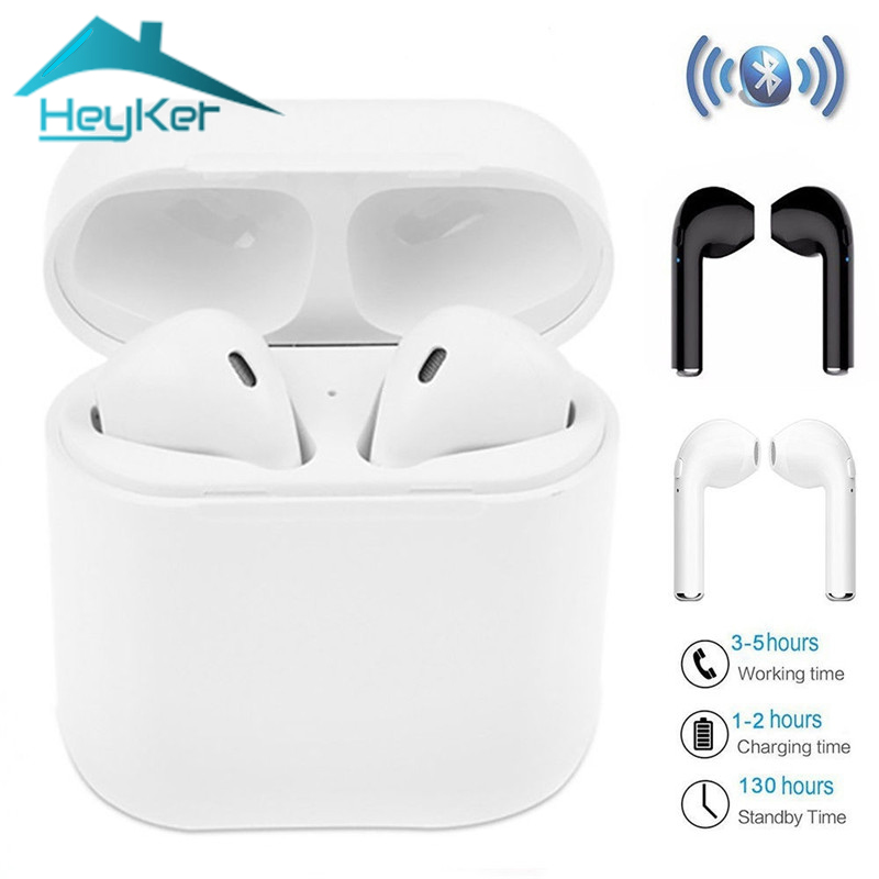 I7S TWS Twins True Wireless Earbuds Mini Bluetooth Headset Bass Earphone with Charging Box auriculares blutooth fone de ouvido