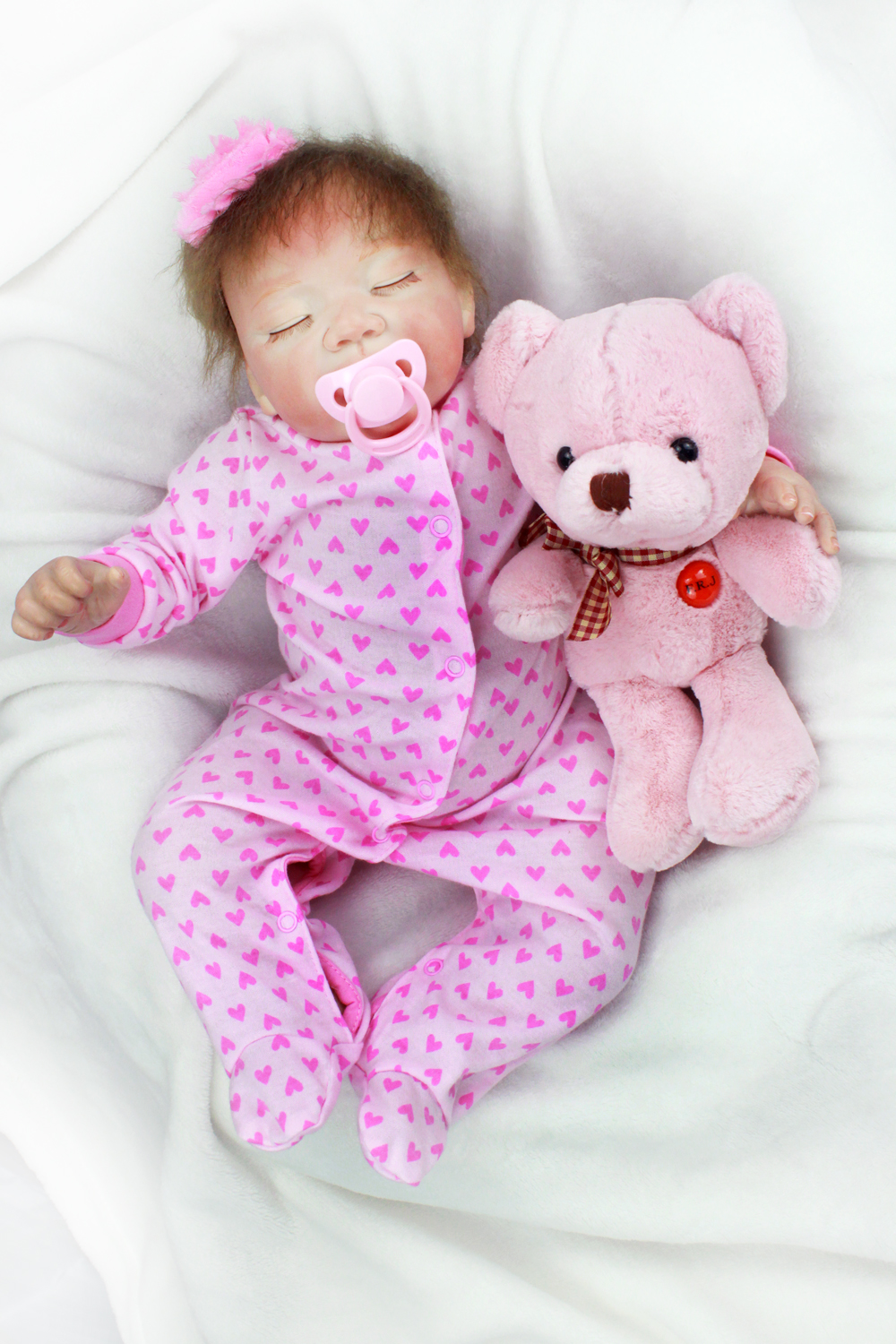 Pursue 20/50 cm Pink Newborn Baby Alive Doll Reborn Silicone Baby Girl Dolls for Children Girl Boy House Play Bedtime Doll Toys pursue 22 56 cm big smile face reborn boy toddler baby doll cotton body vinyl silicone baby boy doll for children birthday gift
