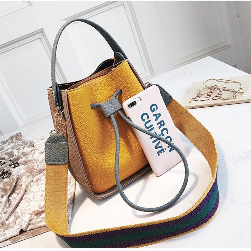 hombro bolso Bolso de mujer de mano para de con colores cordón de v8vxF7a