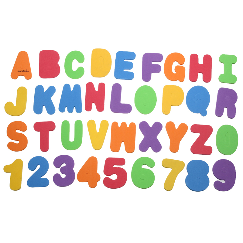 36Pcs/Lot Colorful Letters & Numbers Stickers Bathroom Floating Foam Bathtub Toy Baby Kids Early Educational Toy
