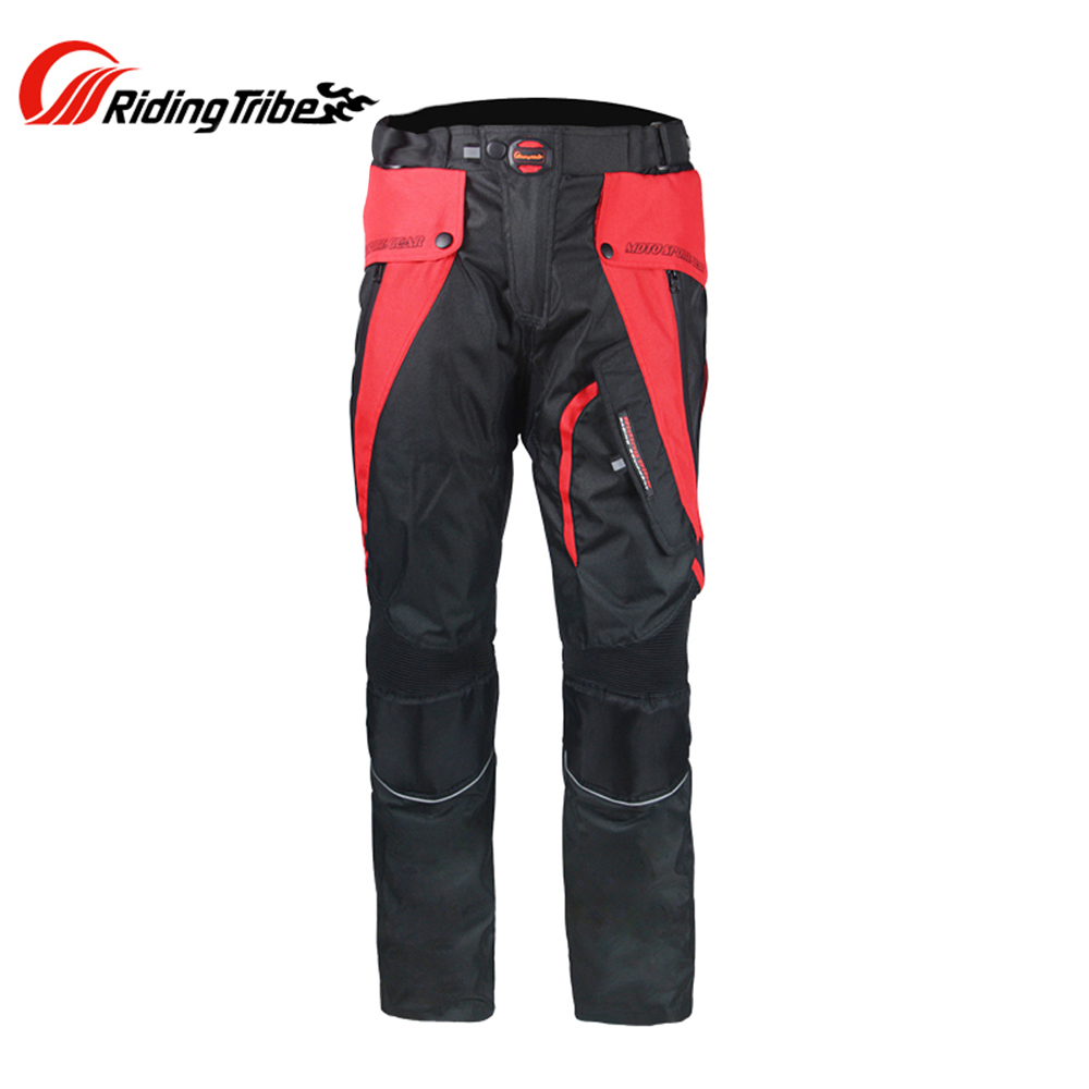 Riding Tribe Motorcycle Pants Touring Racing Pants Clothing Breathable Motocross Off-Road Riding Trousers Removable Protectors