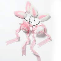 Cute Soft Rabbit ear Headband Fluffy rabbit Bow Tail plug silicone Anal Plug Erotic Cosplay Accessories Adult Sex Toy for Couple