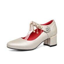 54148952e New Além de Grande e Pequeno 31-48 Tamanho 4 cores Novo primavera Outono  Mulheres Bombas das Mulheres Sapatos Dedo Do Pé Redondo.