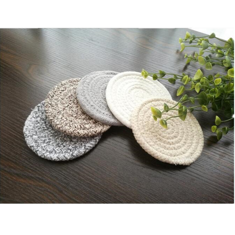 Modern Anti-skid Insulation Knitted Coffee Pot Mat Cotton Table Place Mat Tea Pot Pad Holder Drink Coasters Table Decor 1pc