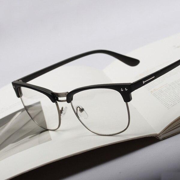 a2778fb74f Classic Eyewear Frame Retro Clear Lens Nerd Frames Glasses Fashion Men  Women Eyeglasses Vintage Half Metal S72-in Eyewear Frames from Apparel  Accessories on ...