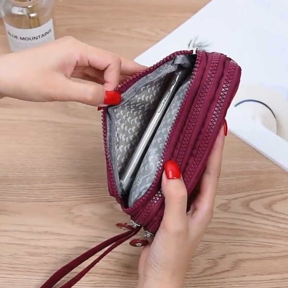 Fashion Women Wallets Lady Canvas Clutch Coin Phone Card Holder Bag Long Purse Wallet Evening Handbag High Quality