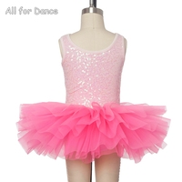 Wholesale! Low price Hot Pink Ballet Stage Performance Tutu Tank Sleeves Little Ballerina Ballet Dance Tutu Dance Wear