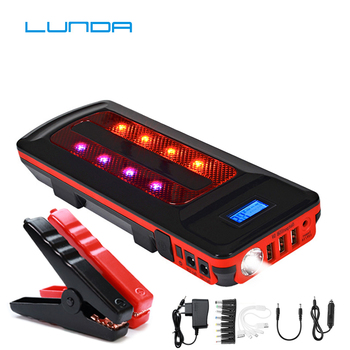 Emergency 12V 99800mAh Portable Battery Charger Car Jump Starter Smart Clip Power Bank Starting Light Bar US/UK/AU/EU