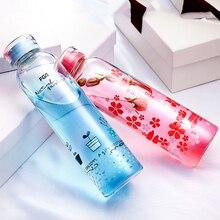 Kreative Niedlichen Flasche Wasser Glas Sport Einmachglas Borraccia Tragbare Erwachsene Transparent Trinken Wasserflasche Mit Deckel QQB142