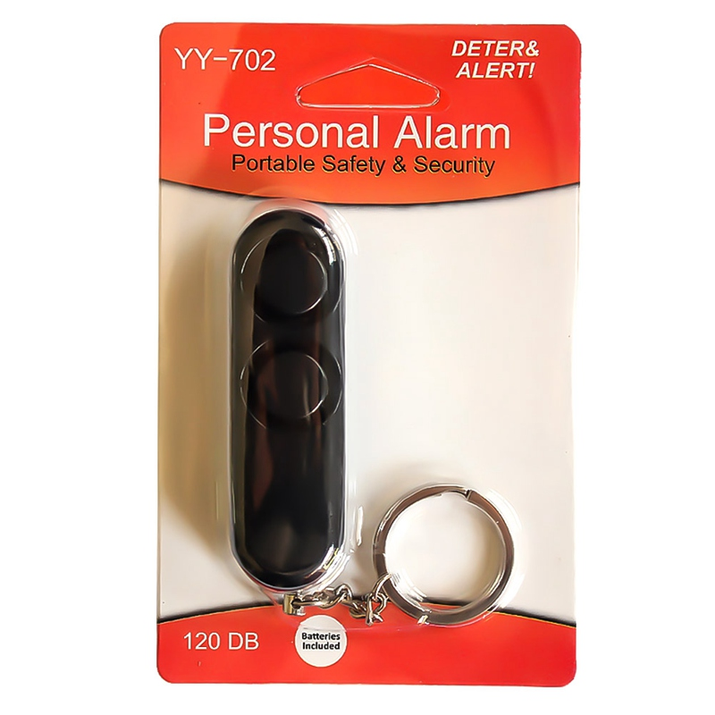 1 Pcs Plastic Personal Alarm Two Speakers Mini Personal Security Alarm System Keychain 130Db Personal Alarm