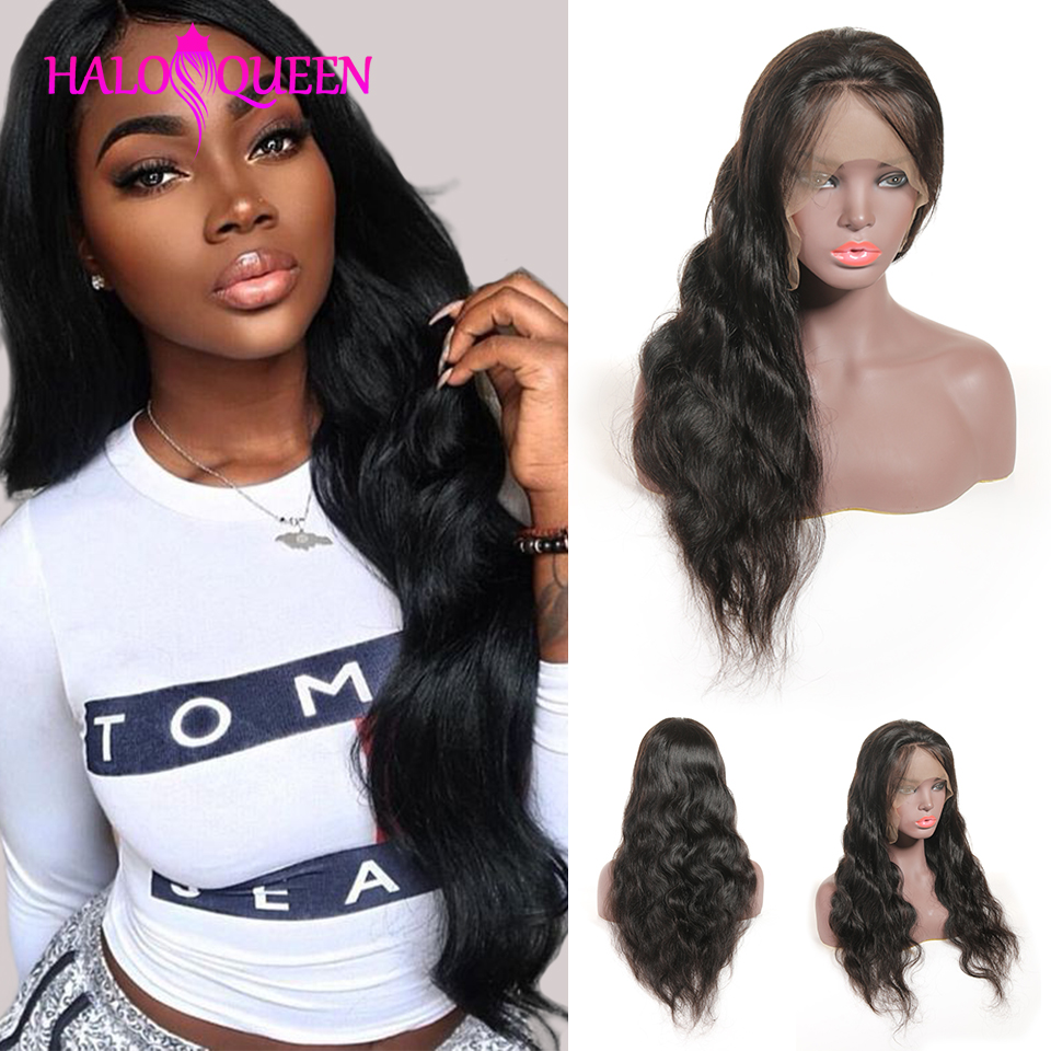 HALOQUEEN Hair Human Wigs Raw Indian 13X4 Lace Closure Wig Body Wave Pre Plucked Baby Hair HALOQUEEN Hair Human Wigs Raw Indian 13X4 Lace Closure Wig Body Wave Pre-Plucked Baby Hair 8-28 Inch Non Remy Human Hair