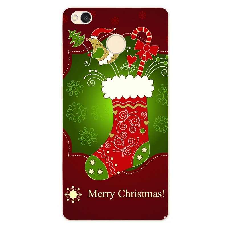 Чехол для Xiaomi Redmi Note 5, силиконовый чехол для Xiaomi mi A1, 5X, Рождественская задняя крышка из ТПУ, красный, mi 4X, 4A, 5A, Note 5, 4, для XIAO mi