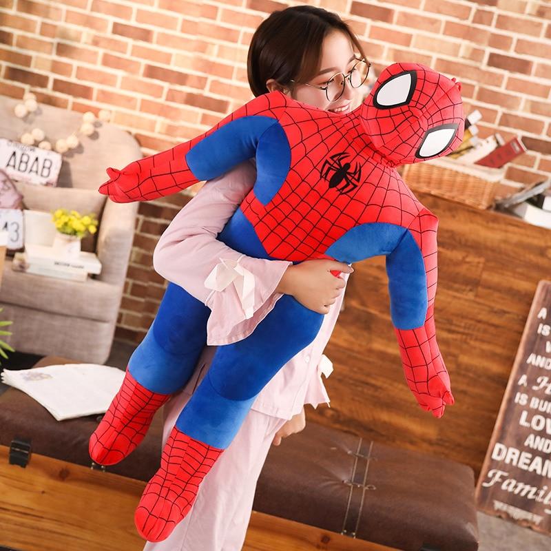 1pc 50-100cm High Quality Super Hero Spider-Man Movie Figure Soft Stuffed Spiderman Plush Toy Doll Birthday Gifts for Children
