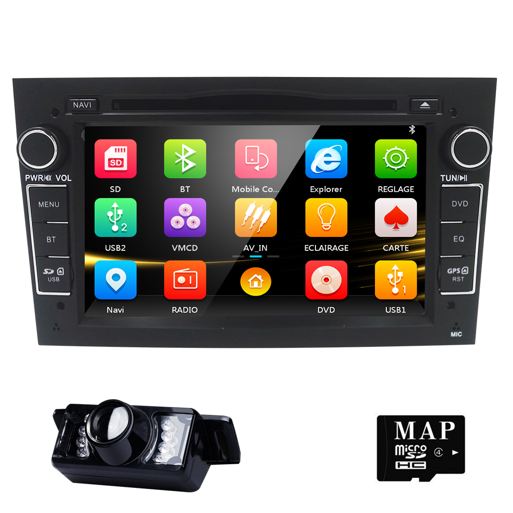 AutoRadio 2Din Car DVD Player Multimedia for Opel Corsa D Astra H Vectra c b Vivaro corsa C zafira b Grey Silver Black Audio DAB