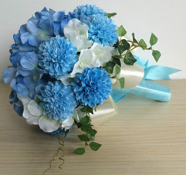Wedding Bouquets Simulated Chrysanthemum & Orchids Bridal Bouquets Color: color 3