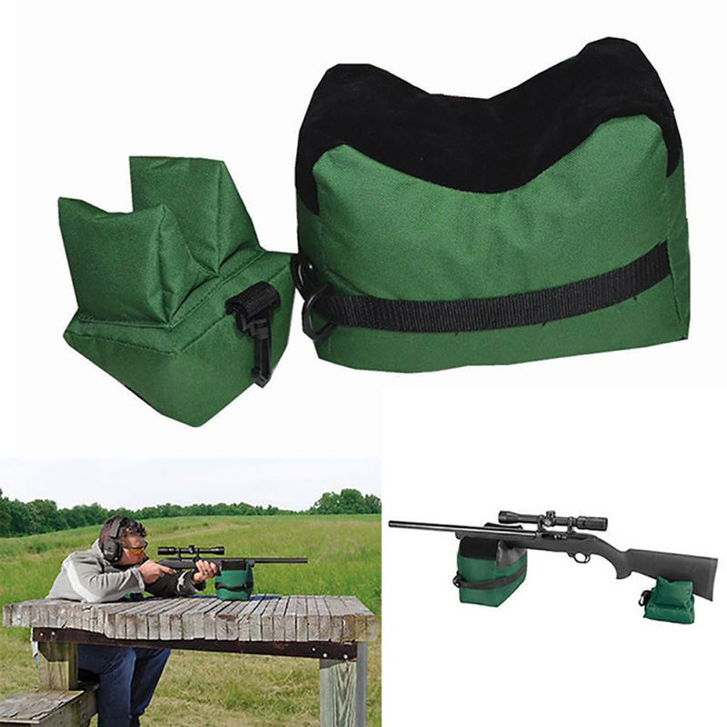 2017 Hot Portable Shooting Rear Gun Rest Bag Set Front & Rear Rifle Target Hunting Bench Unfilled Stand Hunting Gun Accessories