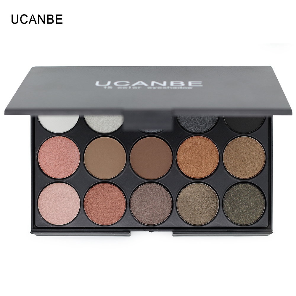 UCANBE-Brand-Eye-Makeup-Set-15-Earth-Color-Matte-Pigment-Eyeshadow-Palette-Cosmetic-Shimmer-Eye-Shadow