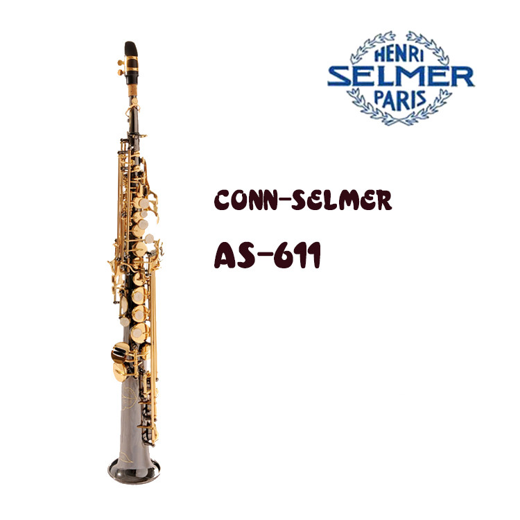 United States Conn AS-611 Salma black nickel soprano saxophone B tone down authentic professional level united as one