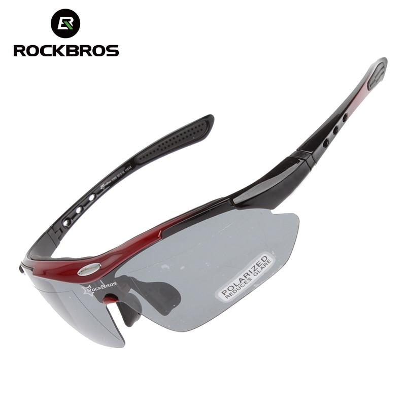 5f9afd472a0 RockBros Cycling Bike Bicycle Polarized Glasses Bike Goggles Outdoor Sports  Bike Bicycle Sunglasses Eyewear UV 400 5 Lens TR90