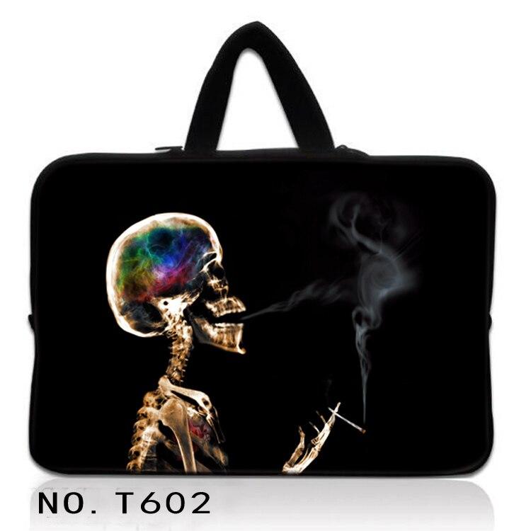 Smoking Skull Carry Sleeve Case Bag For 13