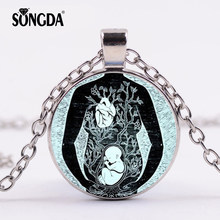 SONGDA Unique Mother and Baby Necklace Pregnant Mom and Children Love Photo Dome Time Gem Pendant Women Mothers Day Gift Jewelry(China)