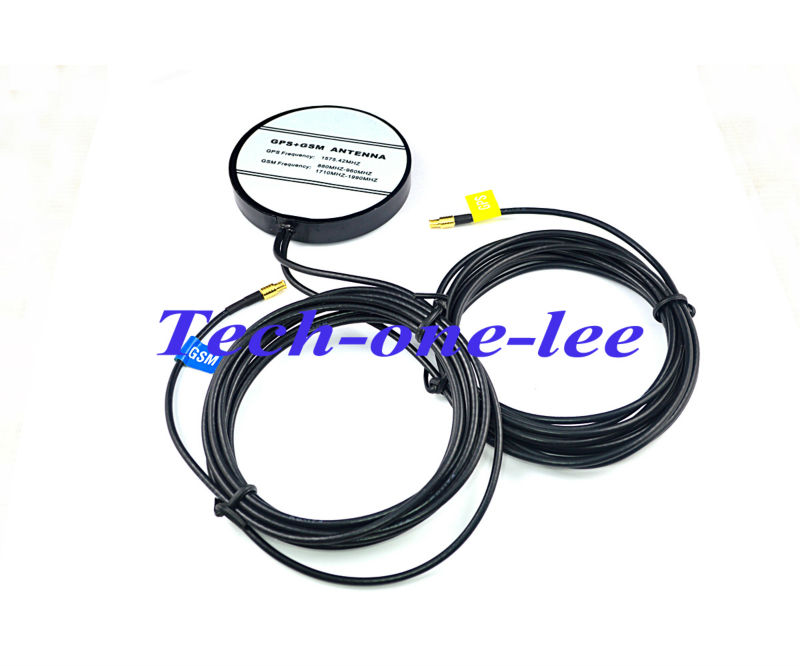 Brand New Amplified Remote GPS+GSM Combined Antenna with goldplated MCX Male connector free shipping