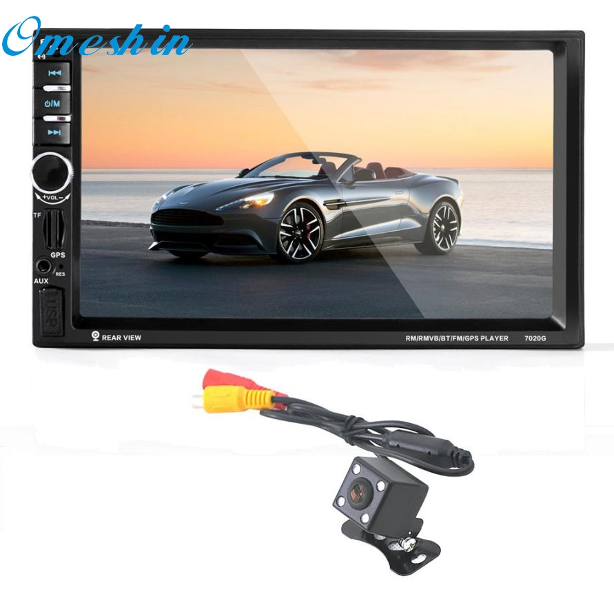 New Arrival 7'' HD Bluetooth Touch Screen Car GPS Stereo Radio 2 DIN FM/MP5/MP3/USB/AUX jy22 niorfnio portable 0 6w fm transmitter mp3 broadcast radio transmitter for car meeting tour guide y4409b