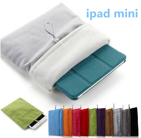 все цены на Colorful 8 inch lint Protective Bag Cloth Sleeve Pouch for iPad Mini 8