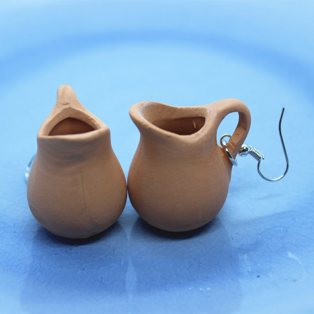 Ceramic Pot Earrings
