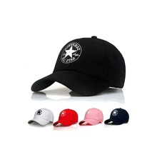 2019 New Spring and Summer Models Embroidered five-pointed star Cotton Baseball Cap Adjustable Sun Hat Sports Baseball Cap fashion five pointed star shape embroidery camouflage pattern baseball cap for men