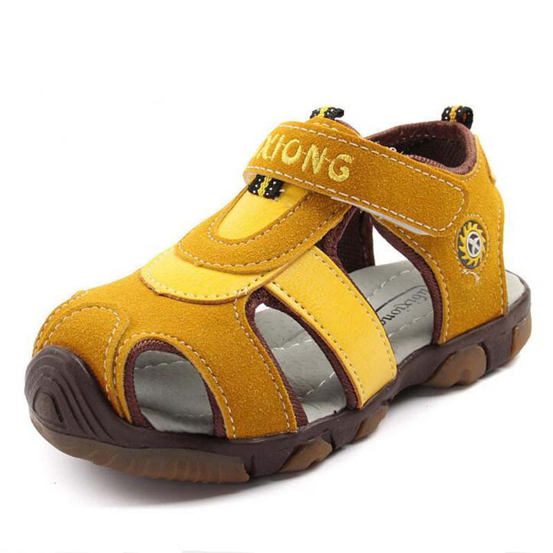 Brand Childrens shoes PU Leather sandals for boys hollow out big kids sport sandals top quality baby girls sandals for 2-12Year