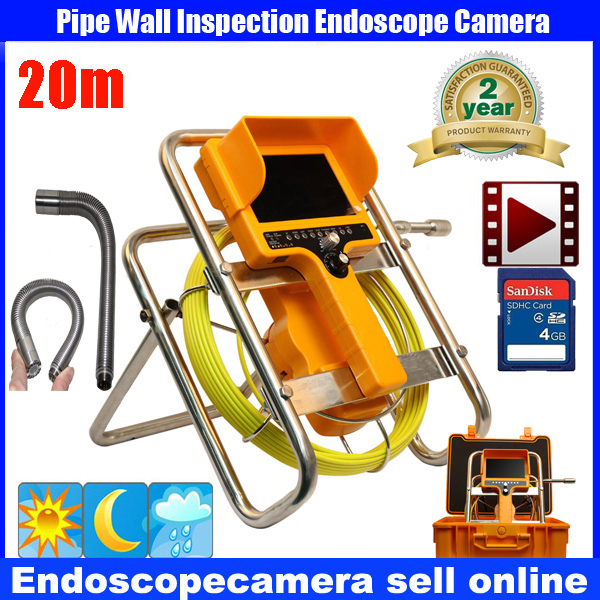 20M/30M 90 degree drain Endoscope Pipe Inspection Camera Pipe Sewer Camera Waterproof Pipe Plumbing DVR Camera 12Pcs White Light boegli m 30