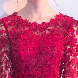 Image 4 - Robe de Cocktail Sexy, courte, dentelle, tenue de soirée élégante, 2020, nouveauté