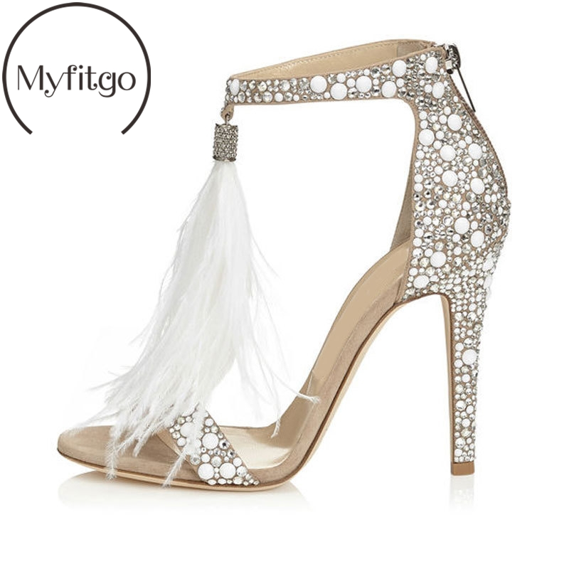 Fashion Sexy Diamond Summer Sandals Cover High Thin Heels Women Shoes Casual Shiny Crystal Sandals with