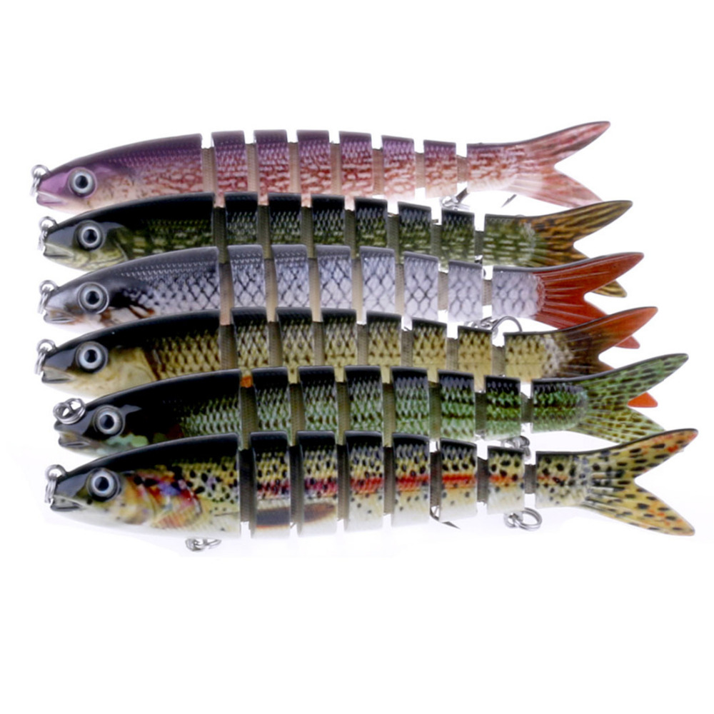 Peche Jointed Minnow Fishing Lures 13.6CM 18.7g Lifelike 8 Segment Swimbait Wobbler Lure For Pike Bass Full Layer Tackle Hook