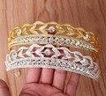 Nova Chegada Luxuy Rainha de cristal grande Coroa Tiara de Prata Moda beleza princesa Diadema de Ouro para o vestido de Casamento Da Noiva Acessórios Para o Cabelo