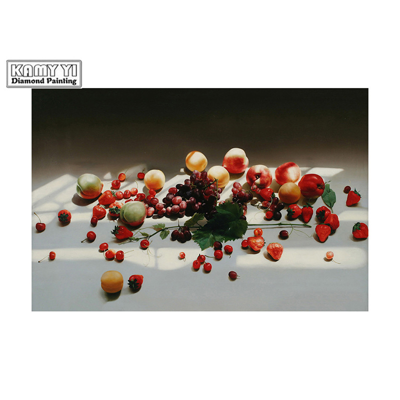 100% Full 5D Diy SquareRound diamond Scattered fruits 3D Diamond Painting Rhinestones Paintings Embroidery D4